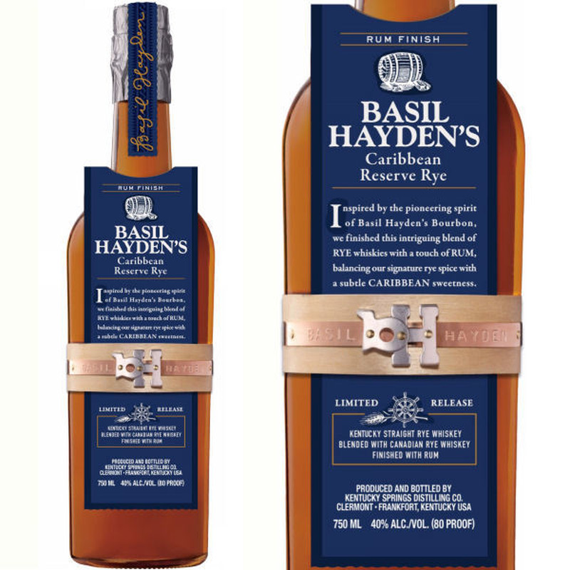 BASIL HAYDEN'S CARIBBEAN RESERVE RYE LIMITED RELEASE 750ML