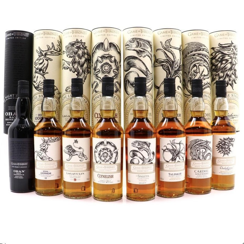 GAME OF THRONES SINGLE MALT  SCOTCH WHISKEY COLLECTION 750ml